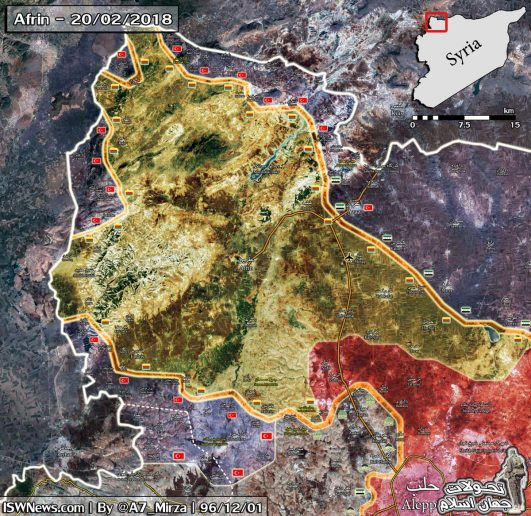 Photo of Latest battle map of northern Aleppo: February 21st update