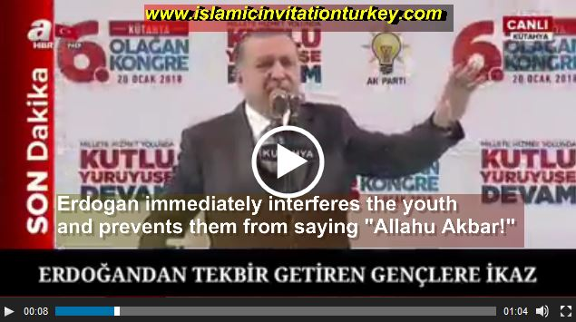 Photo of WATCH| Exlc- Erdogan prevented youth from saying Allahu Akbar!