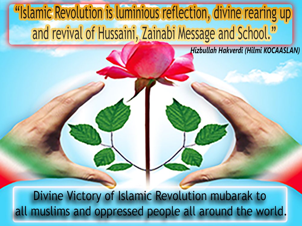 "Photo of ""Islamic Revolution is luminious reflection, divine rearing up and revival of Hussaini, Zainabi Message and School."" Prominent Sunni Scholar Hizbullah HAKVERDI (Hilmi KOCAASLAN)"