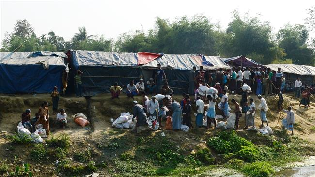 Photo of Rohingya Muslims stranded in borderland not willing to return