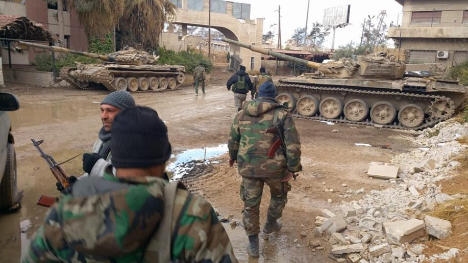 Photo of Syrian Army demolishes terrorist defenses around key stronghold in E. Damascus
