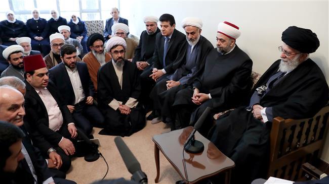 Photo of Leader of Islamic Ummah Sayyed Imam Ali Khamenei: Syria on frontline of fight against enemies of Islam