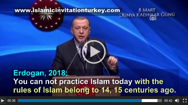 "Photo of WATCH| Excl- Erdogan, ""Islam should be updated,"""