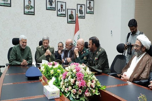 Photo of Iranian defense min. meets with Iraq Hezbollah PMU's Chief Abu Mahdi al-Mohandis