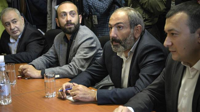 Photo of Armenia opposition leader Pashinyan formally nominated for prime minister by supporters