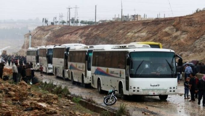 Photo of Largest rebel convoy leaves north Homs to Syria's north