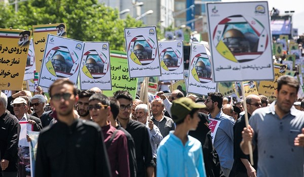 Photo of Iranian People Vow to Continue Support for Palestinian Nation against Terrorist Occupation Regime