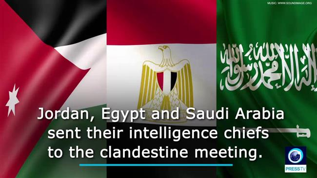 Photo of A secret meeting between Arab states' intelligence heads, zionist Mossad chief