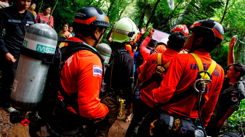 Photo of Four of trapped Thai schoolboys rescued from flooded cave