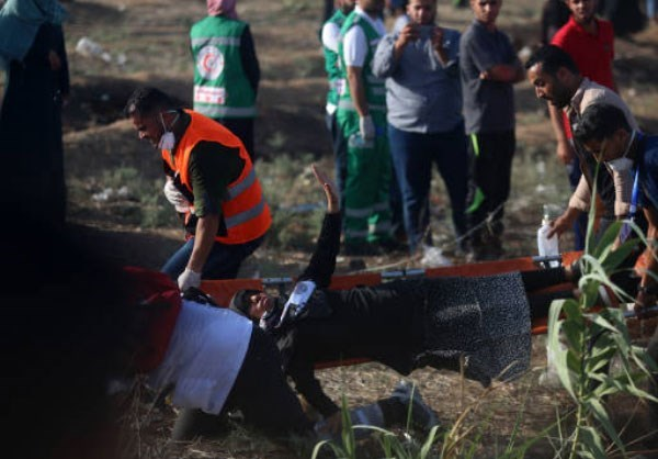 Photo of +130 Women Wounded by Israeli Soldiers in Gaza Rally