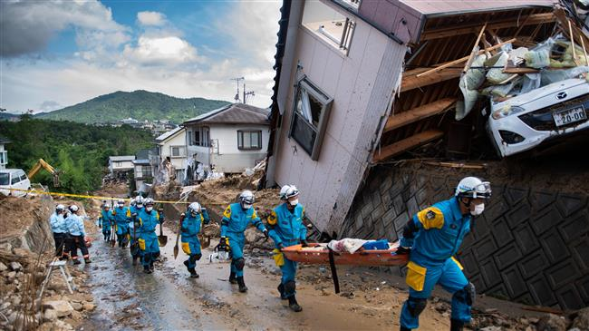 Photo of Japan flood search-and-rescue continues, death toll hits 141