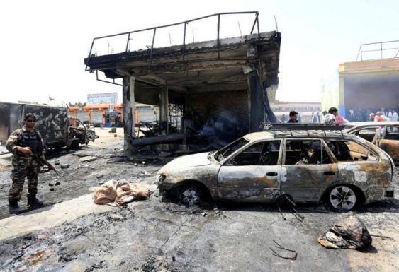 Photo of Afghan suicide blast kills 12 including children