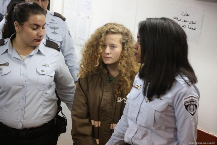 Photo of Palestinian hero, Ahed Tamimi, to be freed Sunday
