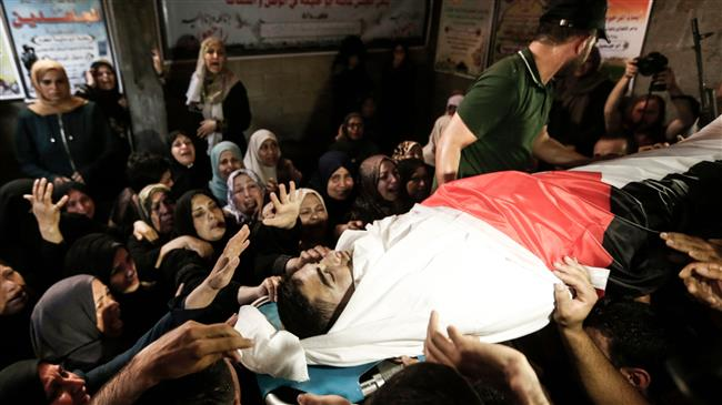 Photo of Palestinians hold funeral for youth killed by Israeli forces in Gaza
