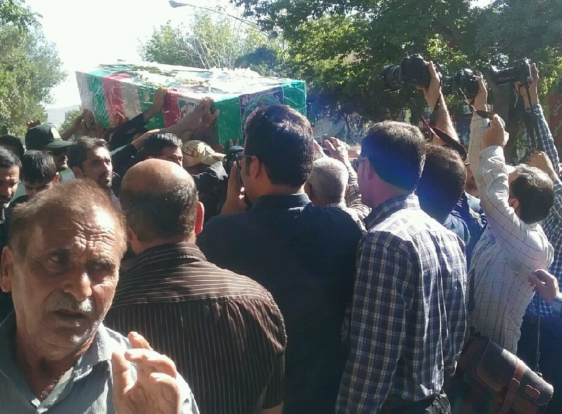 Photo of Funeral ceremony for martyred border guard held in northeastern Iran