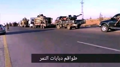 Photo of Large Syrian Army convoy heads to northwest Syria for Idlib offensive