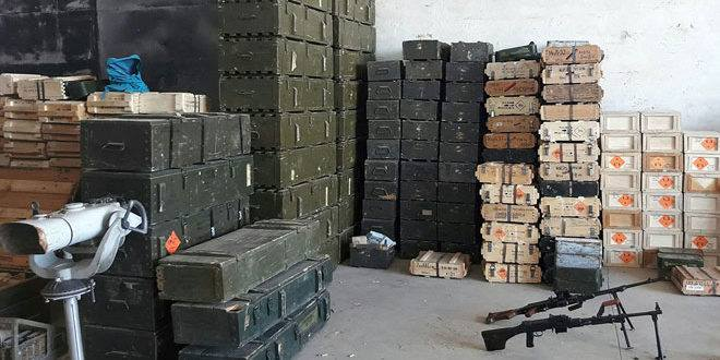 Photo of Syrian Army uncovers weapon cache in south-east Hama