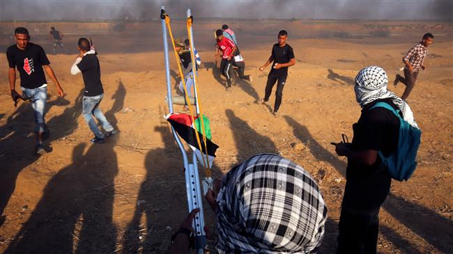 Photo of Zionist regime wounds about 190 Palestinian protesters in Gaza