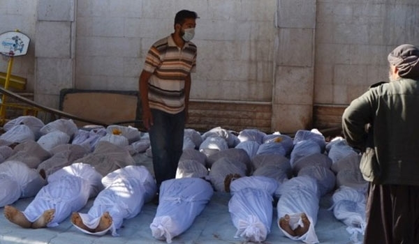 Photo of Bodies of More Civilians Killed in US Attacks Unearthed in Raqqa