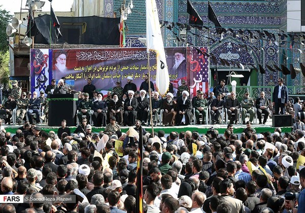 Photo of Photos- Iranians Hold Funeral for Victims of Terror Attack in Ahwaz