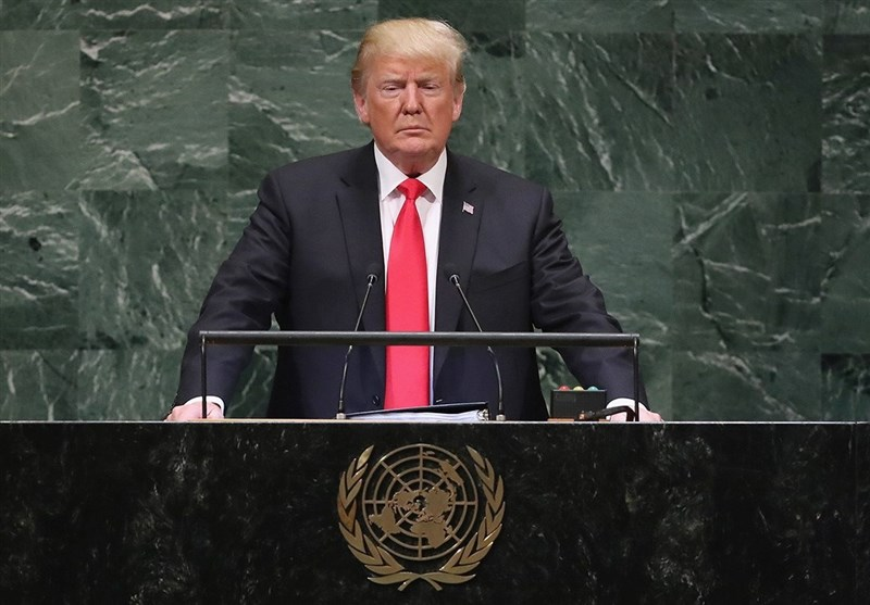 Photo of Audience Burst Into Laughter during zionist Trump's Speech to UN General Assembly