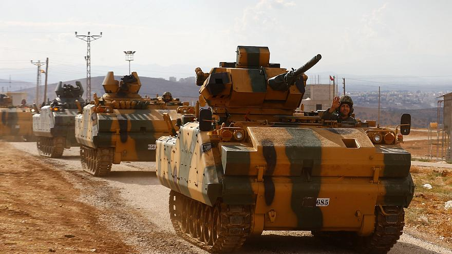 Photo of Turkish military vehicles enter Syria's Idlib