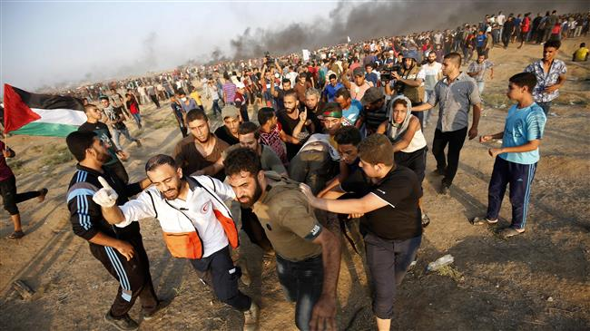 Photo of 7 Palestinians martyred, over 500 injured in clashes with zionist soldiers in Gaza