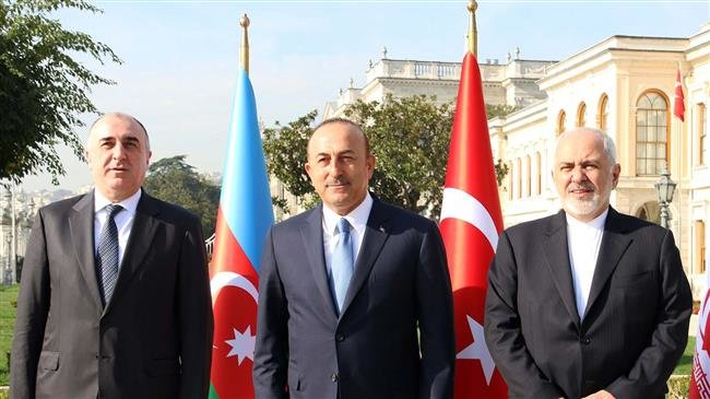 Photo of Iranian, Turkish, Azeri foreign ministers meet in Istanbul