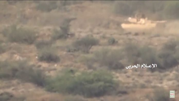 Photo of Yemen Hezbollah Houthi forces destroy zionist Saud's M1 Abrams Tank in Jizan