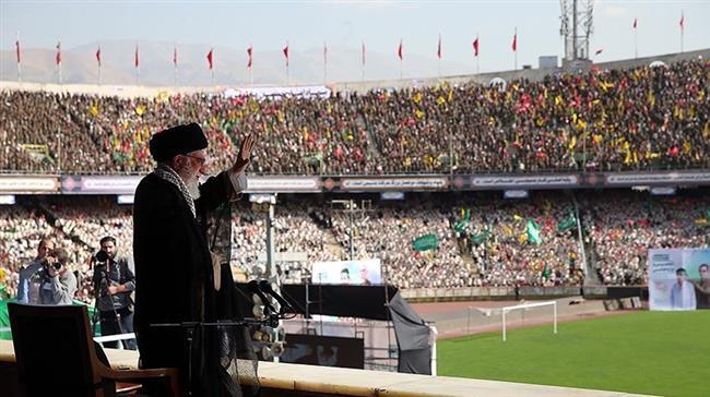 Photo of In Pictures: Leader of Islamic Ummah Imam Sayyed Ali Khamenei's speech at Azadi Stadium