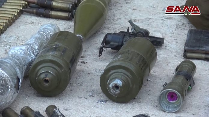 Photo of Syrian military seizes large cache of US-made weapons in southern Damascus