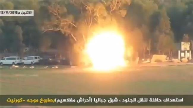 Photo of EXC. VIDEO: ALLAH-U AKBAR! Hamas releases video of guided-missile striking zionist military bus