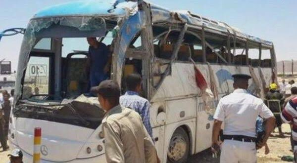 Photo of Terrorists target bus carrying Coptic Christians in northern Egypt, 10 killed
