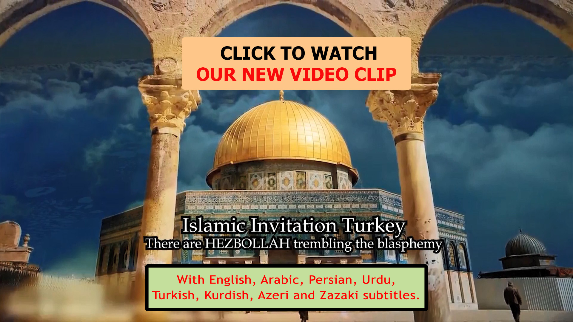 "Photo of New Clip:""THERE ARE HEZBULLAH TREMBLING THE BLASPHEMY!"" with 8 language subtitles"