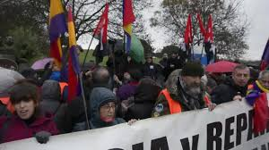 Photo of Spain: Antifascist groups protest Franco exhumation at Valley of the Fallen