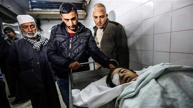 Photo of Gazan kid dies of zionist israeli gunfire wounds sustained in anti-occupation protests