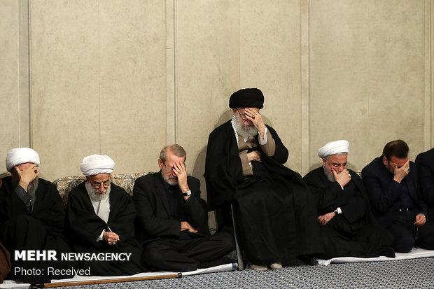 Photo of PHOTOS:Leader of Islamic Ummah an Opressed Imam Ali Khamenei attends commemoration ceremony of Ayat. Shahroudi