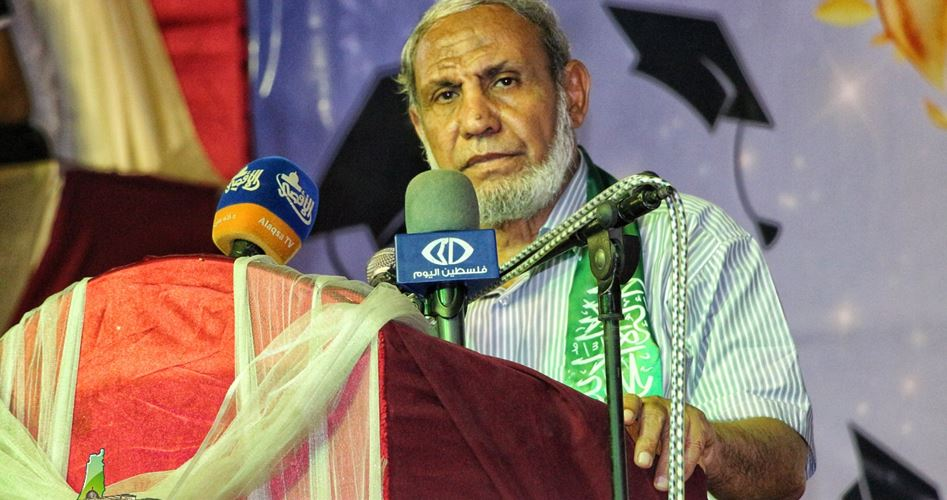 Photo of Zahar voices support for Palestinian detainees from Mandela's dungeon
