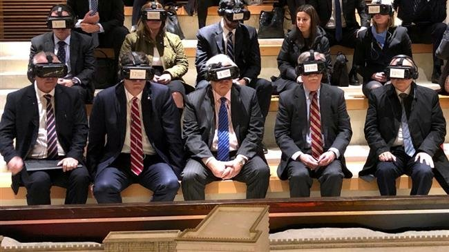 Photo of Zarif on Bolton pic: VR glasses useless if you're blind