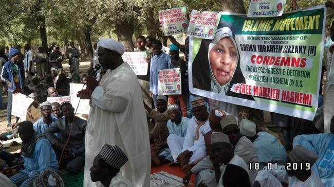 Photo of Muslims in Nigeria hold rally to condemn Press TV anchor's 'illegal' detention in US