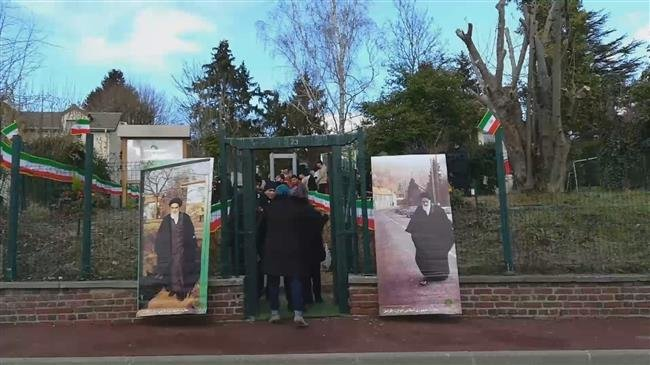 Photo of Iranians in France celebrate 40 years since revolution