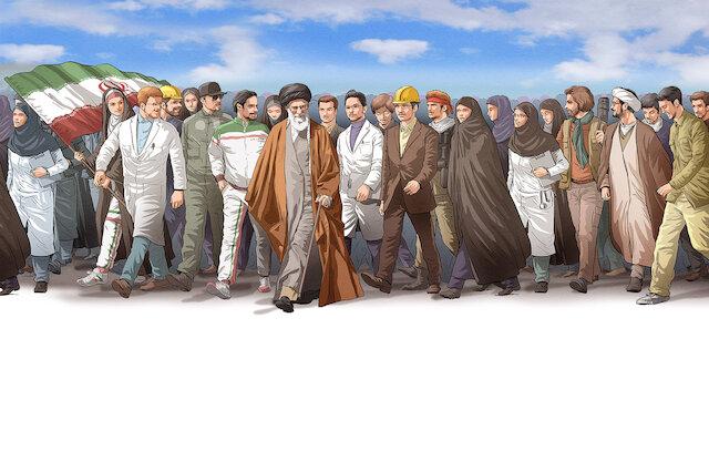 "Photo of Imam Ali Khamenei's speech on 40th anniversary of Revolution as ""Second Phase of the Revolution"""