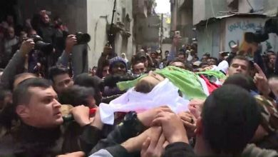 Photo of In Gaza City, funeral for Palestinian killed by Israeli fire