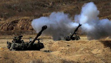 Photo of Zionist regime artillery unit targets Gaza Strip