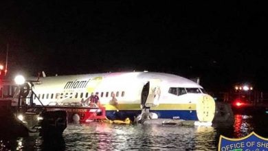 Photo of Plane with 143 Aboard Crashes into Florida River, No Deaths