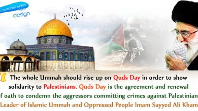 Photo of The Leader of Islamic Ummah and Oppressed People Imam Sayyed Ali Khamenei's View of Quds Day