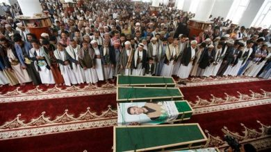 Photo of Yemenis hold funeral for victims of deadly Saudi air raids on Sana'a