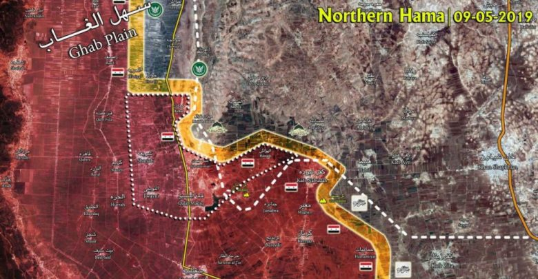 Latest map of northwestern Hama battle | Islamic Invitation Turkey