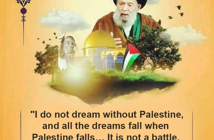 """Photo of Sayyed Fadlallah r.a, """"It is not a battle, not negotiations, and it is not details,"""""""