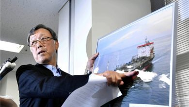 Photo of Japanese Tanker Owner Claims Crew Saw 'Flying Objects' before Attack, Denies Ship Struck Mine